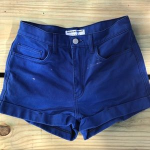 American Apparel jeans royal blue shorts
